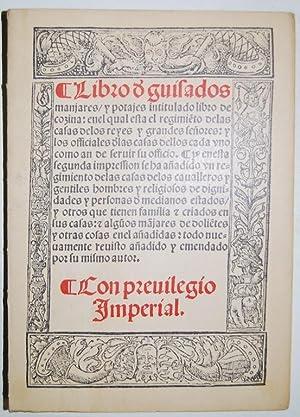 LIBRO DE GUISADOS MANJARES Y POTAJES, INTITULADO: NOLA, Ruperto de