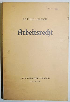 ARBEITSRECHT: NIKISCH, Arthur