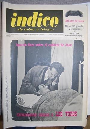 INDICE DE ARTES Y LETRAS. Números 163-164-165.