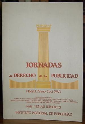 PRIMERAS JORNADAS DE DERECHO DE LA PUBLICIDAD.