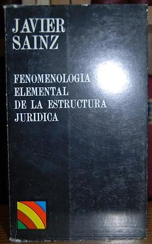FENOMENOLOGIA ELEMENTAL DE LA ESTRUCTURA JURIDICA: SAINZ MORENO, Javier