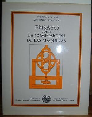 ENSAYO SOBRE LA COMPOSICION DE LAS MAQUINAS.: LANZ, José María