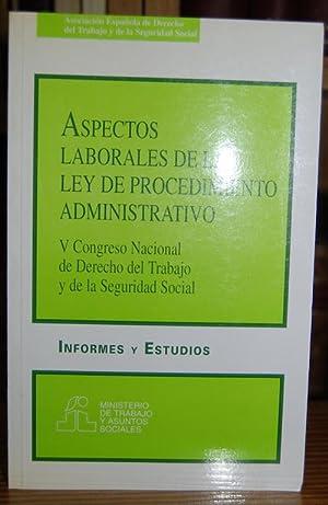 ASPECTOS LABORALES DE LA LEY DE PROCEDIMIENTO: GARCIA BLASCO, Juan