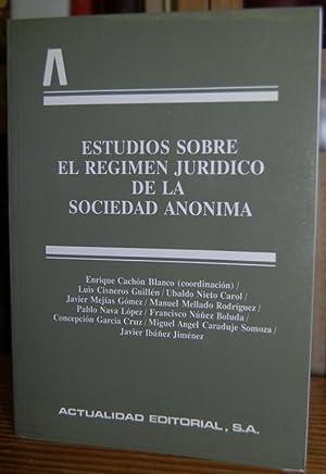 ESTUDIOS SOBRE EL REGIMEN JURIDICO DE LA: CACHON BLANCO, José