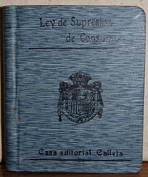 LEY DE SUPRESION DEL IMPUESTO DE CONSUMOS,