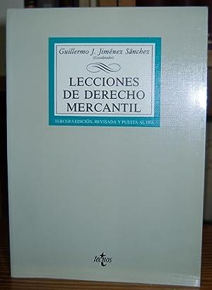 LECCIONES DE DERECHO MERCANTIL: JIMENEZ SANCHEZ, Guillermo