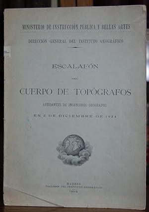 ESCALAFON DEL CUERPO DE TOPOGRAFOS, AYUDANTES DE