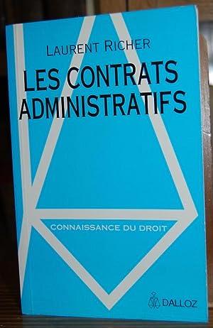 LES CONTRATS ADMINISTRATIFS: RICHER, Laurent