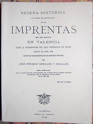 RESEÑA HISTORICA EN FORMA DE DICCIONARIO DE: SERRANO Y MORALES,