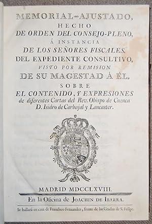 MEMORIAL-AJUSTADO, HECHO DE ORDEN DEL CONSEJO-PLENO, A