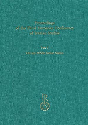 Proceedings of the Third European Conference of: Sims-Williams, Nicholas