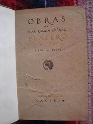 Platero y yo (1914-1916): JIMÉNEZ, JUAN RAMÓN