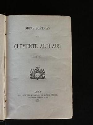 Obras poéticas. (1852-1871): ALTHAUS, CLEMENTE