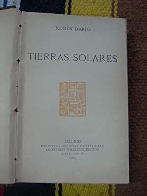 Tierras solares: DARÍO, RUBEN