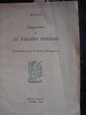 Fragmento del Paraíso Perdido.: MILTON (Manuel Altolaguirre)