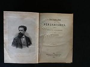 Diccionario de Peruanismos. Ensayo Filológico: ARONA, JUAN DE