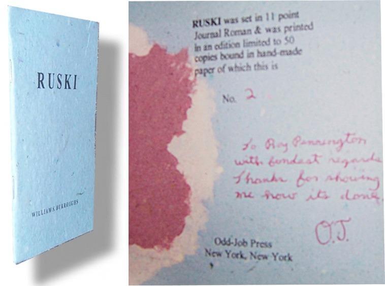 Ruski by Burroughs, William S : Odd-Job Press Paper, Limited