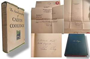 Autobiography of Calvin Coolidge [Inscribed]