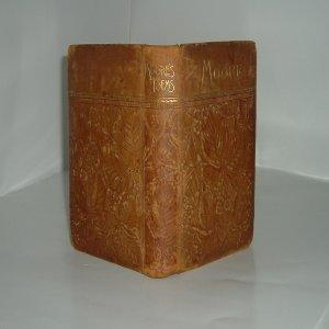 THE POETICAL WORKS OF THOMAS MOORE 1887 decorated leather Binding: THOMAS MOORE
