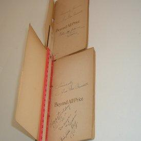 BEYOND ALL PRICE By GRACE NOLL CROWELL signed 1945 RARE 2 VOLS.: GRACE NOLL CROWELL