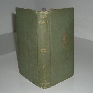 QUO VADIS By HENRYK SIENKIEWICZ 1897 Rare: HENRYK SIENKIEWICZ