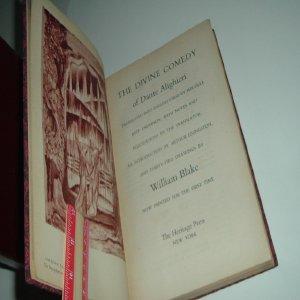 THE DIVINE COMEDY OF DANTE ALIGHIERI 1944 Heritage Press: MELVILLE BEST ANDERSON (translator)