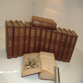 CHARLES DICKENS'S WORKS 1880s 15 VOLUMES Illustrated DECORATIVE NICE: CHARLES DICKENS