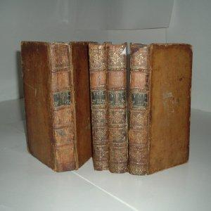 THE GENUINE WORKS OF FLAVIUS JOSEPHUS 1755 w/4 VOLS.: WILLIAM WHISTON, M. A (editor)