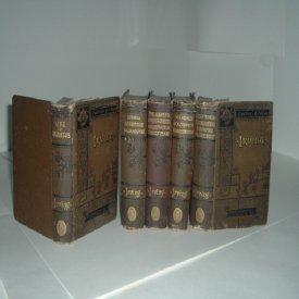 WORKS OF WASHINGTON IRVING 5 VOLUMES 1883 CAXTON EDITION: WASHINGTON IRVING