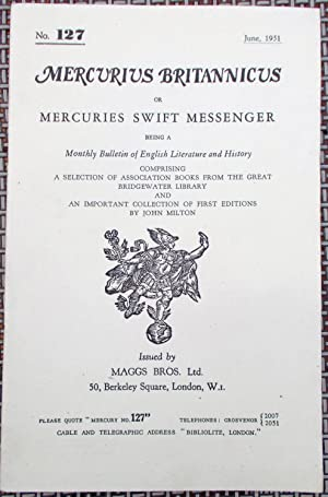 Mercurius Britannicus or Mercuries Swift Messenger (June, 1951)Being a Monthly Bulletin of Englis...