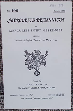 Mercurius Britannicus or Mercuries Swift Messenger Being: Maggs Bros. Ltd.
