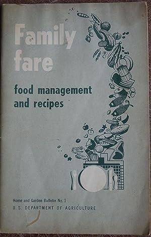 Family Fare: Food Management and Recipes: Bureau of Human