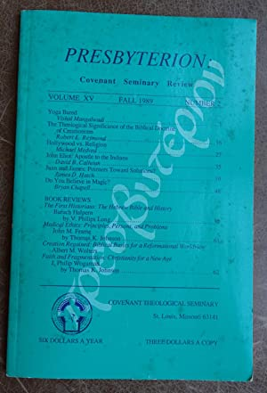 Presbyterion: Covenant Seminary Review - Volume XV No. 2, Fall 1989