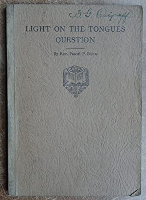 Light on the Tongues Question