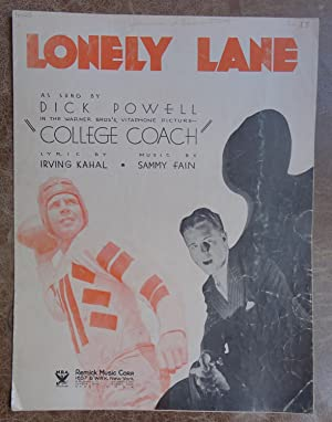 Lonely Lane: Kahal, Irving and