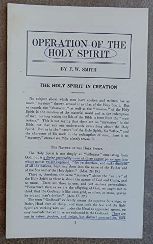 Operation of the Holy Spirit