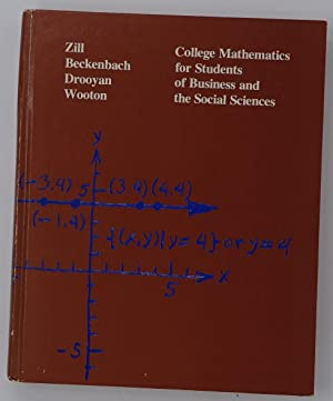 College Mathematics for Students of Business and: Zill, Dennis G.