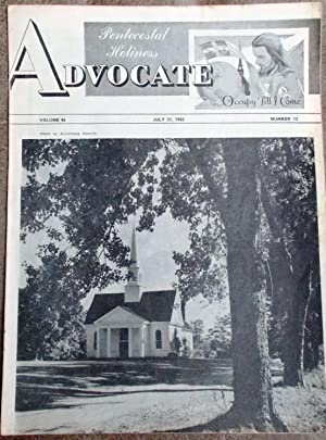 Pentecostal Holiness Advocate - July 21, 1962 (Cover Story - Unspecified)