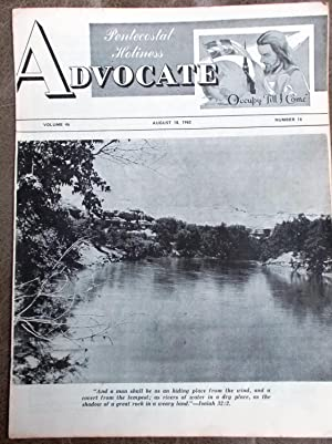 Pentecostal Holiness Advocate - August 18, 1962 (Cover Story - Untitled.)