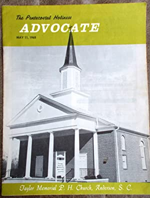 Pentecostal Holiness Advocate - May 11, 1968 (Cover Story - Taylor Memorial P. H. Church, Anderso...