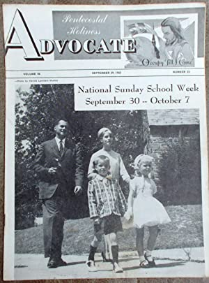 Pentecostal Holiness Advocate - September 29, 1962 (Cover Story - National Sunday School Week Sep...