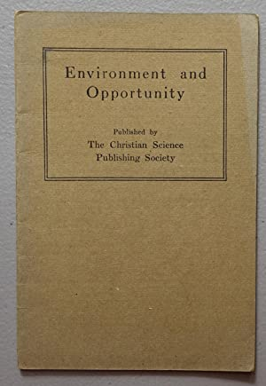 Environment and Opportunity: Greater Than Circumstances, Why Grow Old?, Limitation, Problem of th...