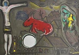 Derriere Le Miroir 27-28, DLM Chagall, Contains 2 Lithographs