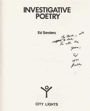 INVESTIGATIVE POETRY: SANDERS, Ed.