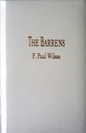 THE BARRENS - signed limited edition: Wilson F Paul
