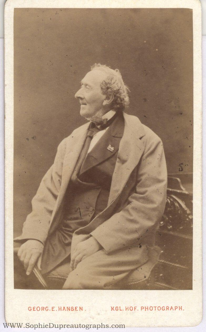 Unsigned Carte De Visite Photo By Georg E Hansen Hans Christian 1805 1875 Danish Author Of Plays Novels And Poems Particularly Remembered For His Fairy