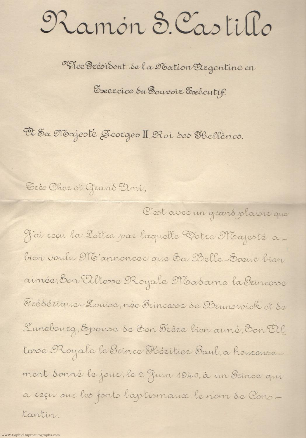Fine manuscript letter in french with translation signed addressed fine manuscript letter in french with translation signed addressed to george ii king of spiritdancerdesigns Images
