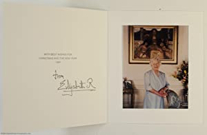 Fine Christmas Card with a printed signature under the printed message of greeting, (The Queen Mo...