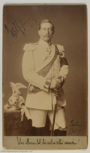 Fine Signed, Inscribed and Dated Imperial Cabinet Photograph, (1859-1941, Emperor of Germany)