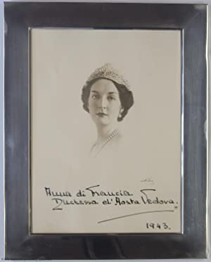 Splendid Signed and Dated Portrait Photograph, (Anna, 1906-1986, daughter of Prince Jean, Duc de ...